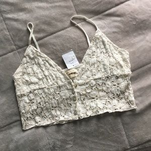 45cf8634 Urban Outfitters Tops - Urban Outfitters Bright Star Lace Button Down Cami